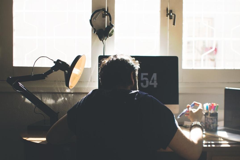 Trabalhador em home office - MarQPonto